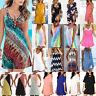 Womens Summer Sleeveless Sundress Holiday Party Beach Short Mini Dress Plus Size