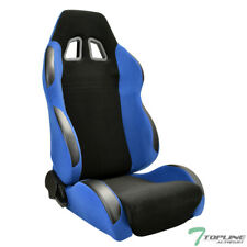 Topline For Cadillac Sp Simulated Suede Racing Seatslider Driver Blackblue Fits Cts V