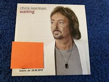 Chris Norman 1-track Promo CD Waiting - cardsleeve - smokie related