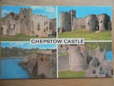 POSTCARD MONMOUTHSHIRE CHEPSTOW CASTLE - MULTI VIEW