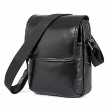 "Men Real Leather Shoulder Messenger Bag 7.9"" Tablet Satchel Cross body Handbag"
