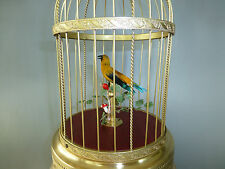 VINTAGE GERMAN KARL GRIESBAUM SINGING BIRD CAGE AUTOMATON MUSIC BOX (SEE VIDEO)