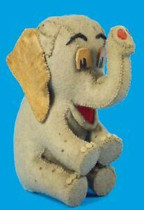 Vintage Handmade Felt Elephant Amazing Hand Work
