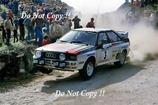 Hannu Mikkola Audi Quattro A1 Winner Portugal Rally 1983 Photograph 1