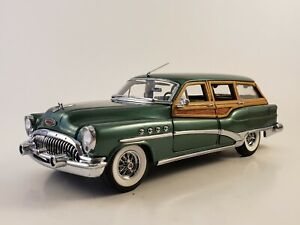 "Danbury Mint 1953 Buick Estate Wagon  ""TERRACE GREEN""  1:24"