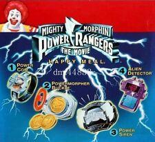 1995 McDonalds Power Rangers MIP Complete Set & U3 - Lot of 5