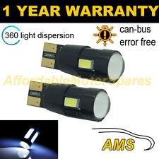 2x W5W T10 501 Errore Canbus libero BIANCO 6 SMD LED INTERIOR LAMPADINE il104201