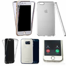 360° Silicone gel full body Case Cover for most mobiles - Clear