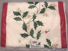 Lenox Decorative Table Runner 14 x 90 Holly Ivy Cotton Polyester New