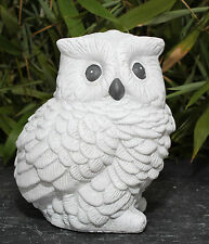 sculpture en pierre hibou blanc antique oiseaux