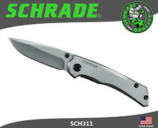 Schrade Frame Lock Folding Knife 9Cr18MoV Steel All Titanium Coated SCH311