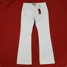 Banana Republic Jeans Women's size 28 / 6 Flare Low Rise Stretch White NWT $69