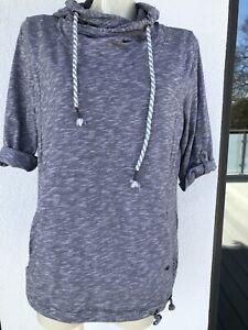 CECIL leichtes 3/4-Arm Damen-Kapuzen Shirt, Größe XL