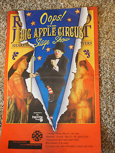 "Oops! THE BIG APPLE CIRCUS STAGE SHOW Cerritos Centre POSTER  14"" x 22"""