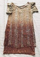 Nougat London Dress Beaded Sequined Dress Party Cocktails size 2 Silk