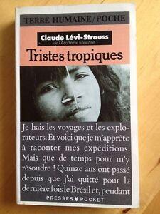 Tristes Tropiques de Claude Lévi-Strauss (poche)