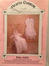 Christening Dress Gown Bonnet Newborn Baby Addie Hearts Content Pattern Doll