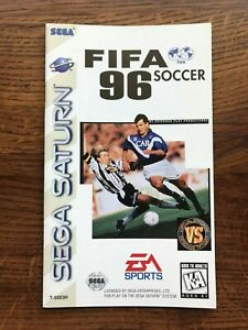 FIFA Soccer 96 1996 Sega Saturn Game Instruction Manual Only