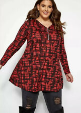 Yours Clothing Red Crosshatch Long Line Top New Plus Size 26/28