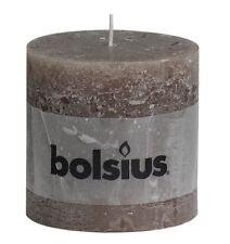 Bolsius Pillar Church Altar Rustic Candle 57 Hour Burn 100mm - Taupe