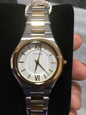 Bulova Two Tone Gold Stainless Steel Ladies Watch Model 98L238