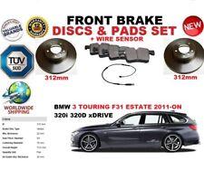 für BMW 3 F31 Kombi ab 2011 312mm Vorderbremse Scheibensatz+BELÄGE SET + Sensor
