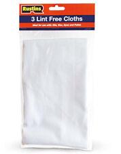 Rustins Lint Free Cloths 3pk for Applying Danish Oil Furniture Wax Polish Stains