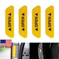 Yellow Super Car Door Open Sticker Reflective Tape Safety Warning Decal 4PCS
