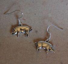 Ohrringe Schwein, Glücksschwein, Ohrhaken aus Chirurgenstahl versilbert