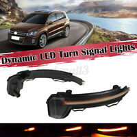 For VW Tiguan MK2 Touareg MK3 Sequential LED Side Mirror Indicator Light  D*//