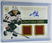 2013-14 NATIONAL TREASURES - ROOKIE PATCH AUTO - WILD - MIKAEL GRANLUND