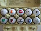 Lot XV Konvolut 10 verschiedene Golfbälle mit Logo Schwerpunkt AT-Motive