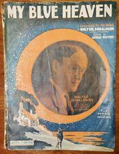 "VINTAGE 1927 SHEET MUSIC ""MY BLUE HEAVEN"" BY WALTER DONALDSON, W/ UKULELE"