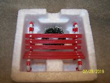 """Heritage Village Collection """"Candy Cane Bench"""" # 5266-9 Adorable"""