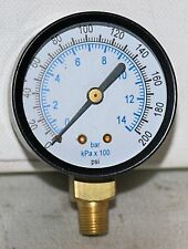 "200 PSI/BAR  2"" DIAL 1/8"" NPT PRESSURE GAUGE"