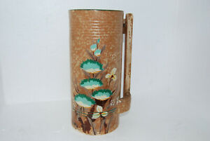 Rare 1950's Alney Vase - Floral Hand Painted Design - Made in England