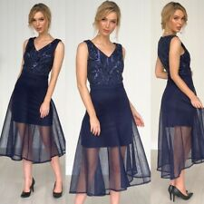 Polyester Christmas Fit & Flare Dresses for Women for sale