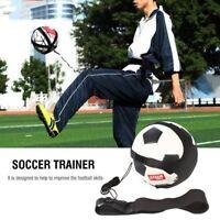 Football Kick Trainer Skills Solo Soccer Training Aid Self Equipment Waist Belt