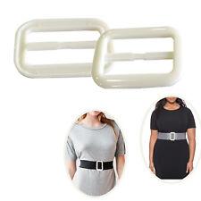 Plastic White Triglide Slider Buckle for Fasteners Strap Webbing Straps Bag Belt