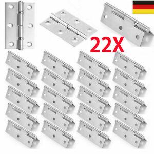 22x Scharniere Edelstahl-Scharniere Scharnier Beschlag Türband Schrank Schaniere