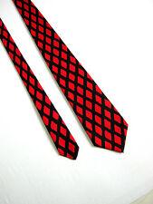 DIVA EXCLUSIVE PRINT VINTAGE 80 RARA RARE Cravatta Tie SETA 100% SILK  ORIGINALE