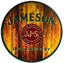 JAMESON - IRISH WHISKEY SIGN - 14 inch Diameter, Aluminum Sign