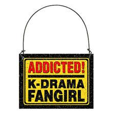 Deco Mini Sign Wood Ornament Addicted K Drama Fangirl FitsDoorKnob Korean Kpop
