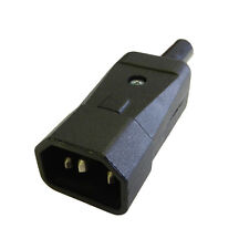 Power Connector IEC C14 Male Plug Rewireable Connector Made in UK