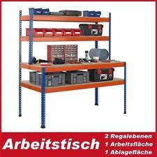 Packtisch/Arbeitstisch 198x153x77 cm mit 2 Regalböden, 1 Arbeitsfläche, 1 Ablage