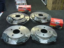 FORD MONDEO 2.5 V6 ST200 ST24 BRAKE DISC DRILLED GROOVED  MINTEX PAD