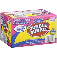 Dubble Bubble 5400pcs 6 Assorted Flavor Tab Gum vending ford chiclet candy 13lb+