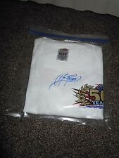 AJ FOYT SIGNATURE SIGNED AUTOGRAPHED T-SHIRT  A.J. FOYT 50 YEARS AT INDY *RARE*