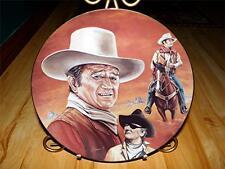 """""""The Duke"""" JOHN WAYNE by Glenice Celebrity Impressions LARGE Plate"""