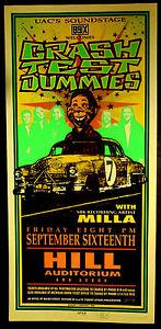 Rare Arminski Crash Test Dummies 1994 Silkscreen Concert Poster